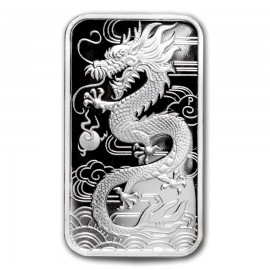 1 Unze Silber Rectangular Dragon Perth Mint 2018 PP