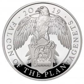 5 Unze Silber Queens Beasts Falcon 2019 PP