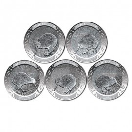 5 x 1/2 unze Silber Kiwi 2019  Set  Reverse Proof