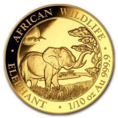 1/10 oz Somalia Elefant Gold 2019