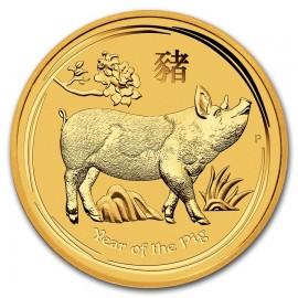 2 oz Gold Lunar II pig