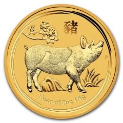 2 oz Gold Lunar II Schwein 2019