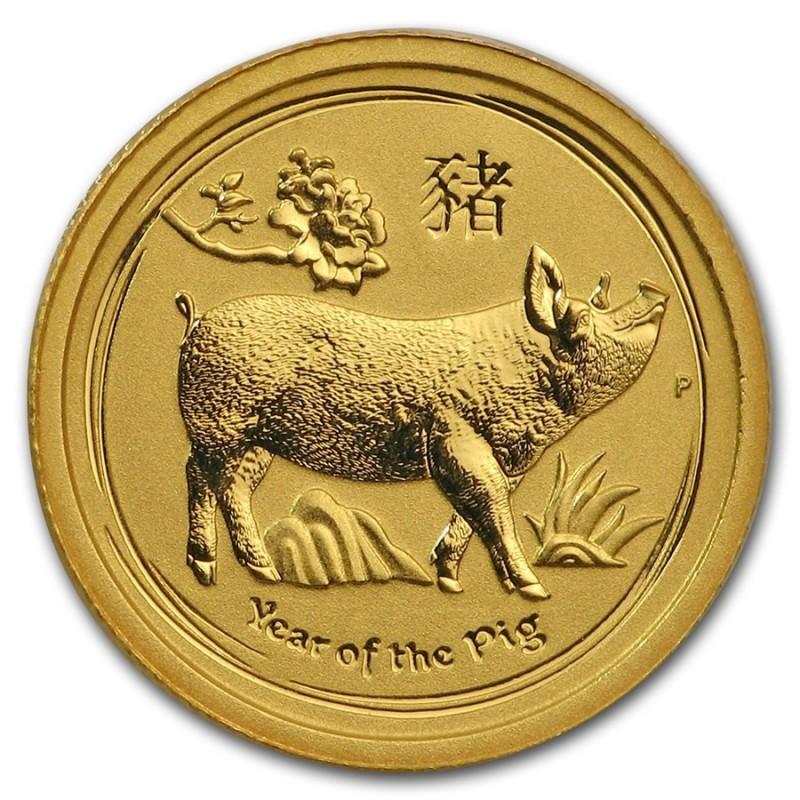 1/20 oz Gold Lunar II Schwein 2019