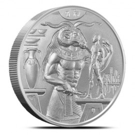 2 Unzen Silber Ultra High Relief Khnum