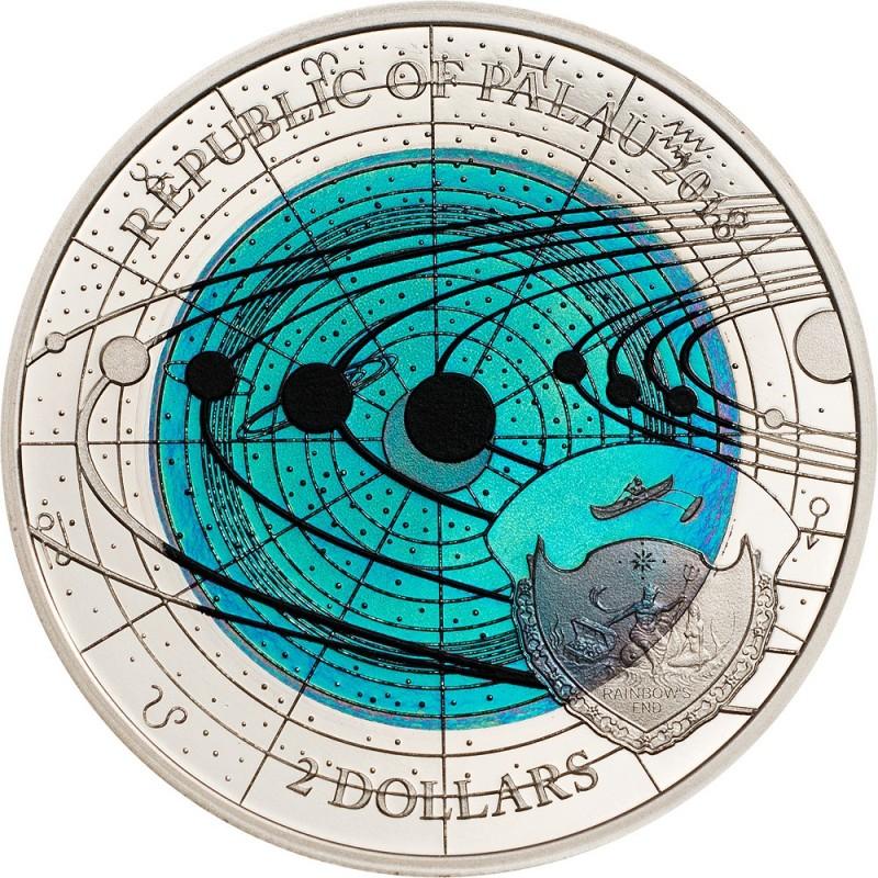 Niob Uranus Palau 2018 Silber Solar System