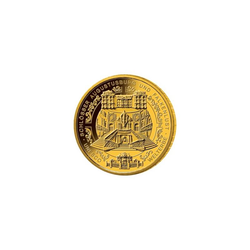 1/2 Unze Gold  Schlösser Augustusburg und Falkenlust in Brühl 2018 100 Euro