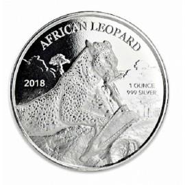 1 oz Silver  African Leopard Ghana 2017