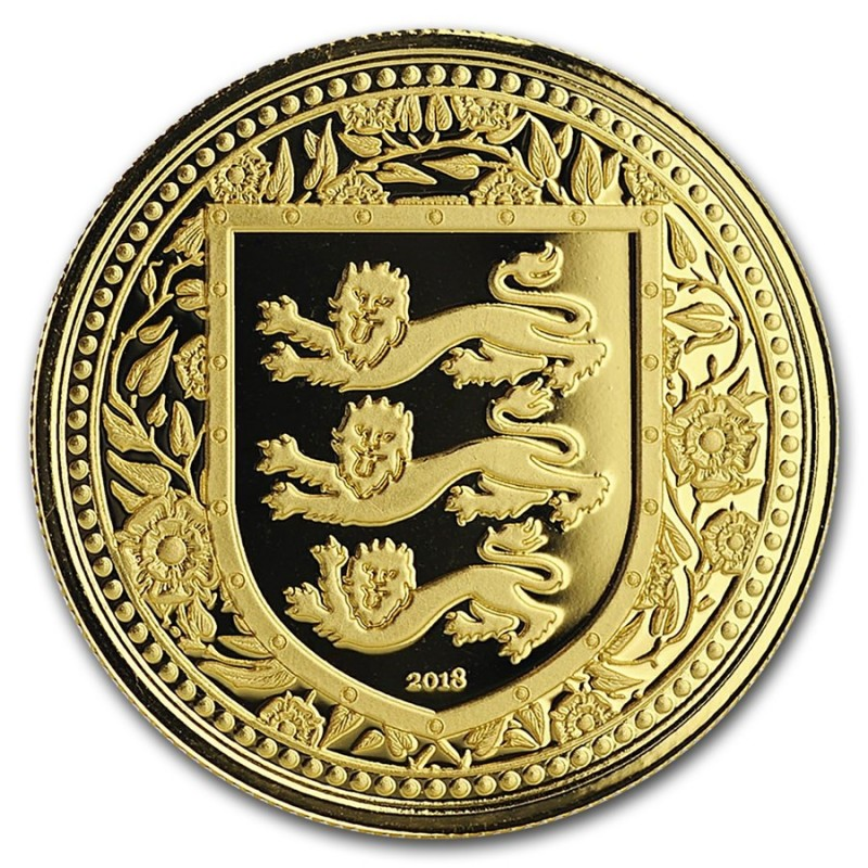 1 Unze oz Gold 2018 three Lions Royal Arms of Britain Gibraltar Blue  500 Stück