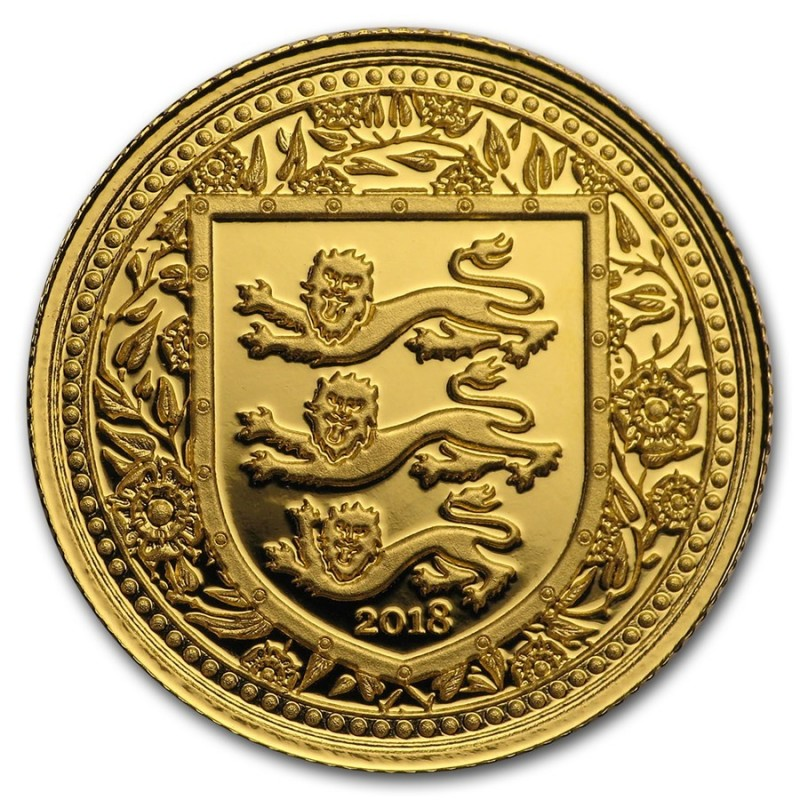 1 Unze oz Gold 2018 three Lions Royal Arms of Britain Gibraltar