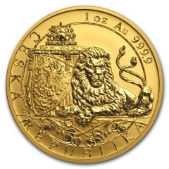 1 oz Gold 50 $ Dollar Czech Lion - Tschechischer Löwe Niue Island 2018 Reverse Proof