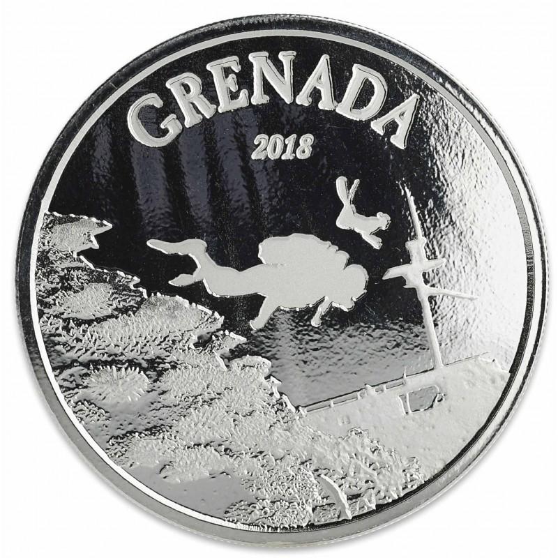 1 Unze Silber 2018 Grenada Diviving Paradies