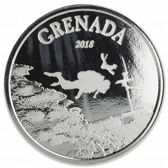 1 Unze Silber 2018 Grenada Diving Paradies