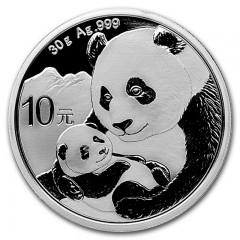 30 Gramm  China Silber Panda 2019