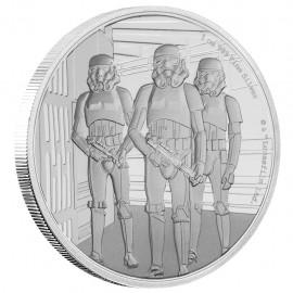 1 Unze Silber Emperor Stormtrooper Star Wars Niue