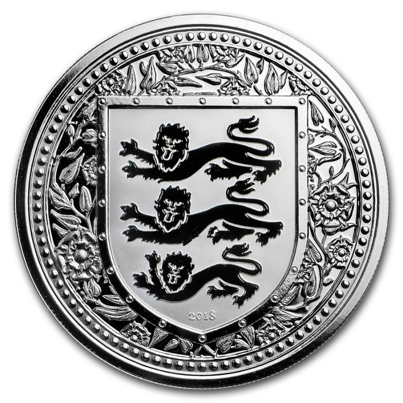 1 Unze oz silber 2018 three Lions Royal Arms of Britain Gibraltar Blue  500 Stück