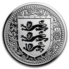 1 Unze oz silber 2018 three Lions Royal Arms of Britain Gibraltar Black  99 Stück