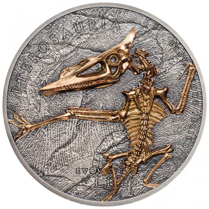 1 Unze Silber 500 Togrog 2017 Mongolei - Evolution des Lebens - Ichthyosaur