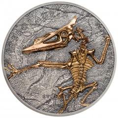 1 Unze Silber 500 Togrog 2018  Mongolei - Evolution des Lebens -PTEROSAUR