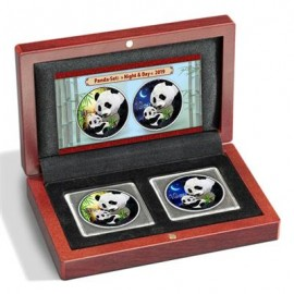 2 x 30 Gramm  Set Night & Day China Silber Panda 2019