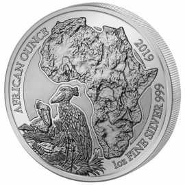 1 Unze Silber Ruanda Schuhschnabel 2019 PP