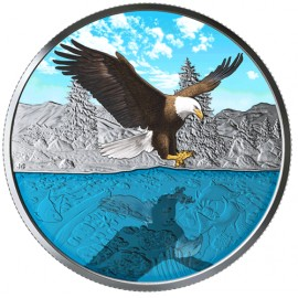 1 Unze Silber Canada 20$ Refection Bald Eagle