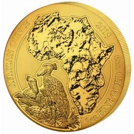 1 Unze Gold Ruanda Schuhschnabel 2019