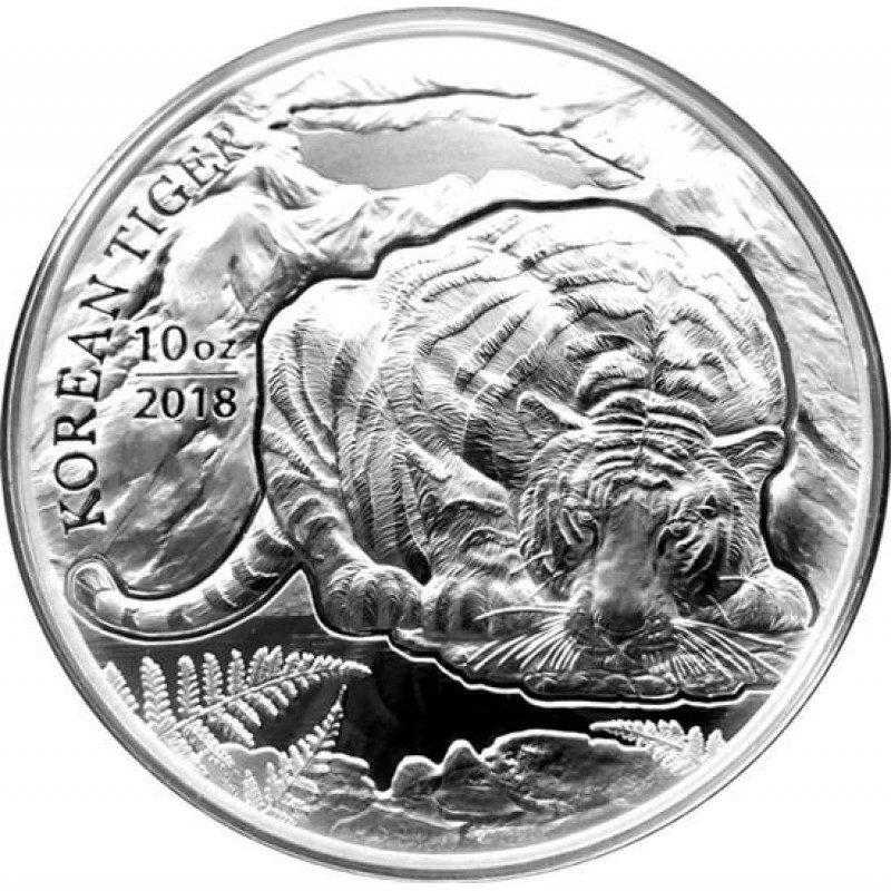 10 oz Unze  Silber Korean  Tiger   2018