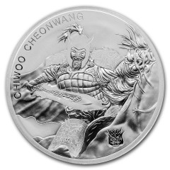 1 oz Unze  Silber Südkorea South Korea Chiwoo Cheonwang 2018 1 Clay Privy Scrofa