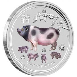 1 Kg Silber PIG Lunar II 2019