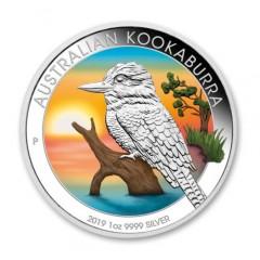 1 Unze Silber Australien Kookaburra 2019 Farbig