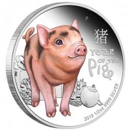 1/2 Unze Silber Baby Schwein Pig Perth Mint PP