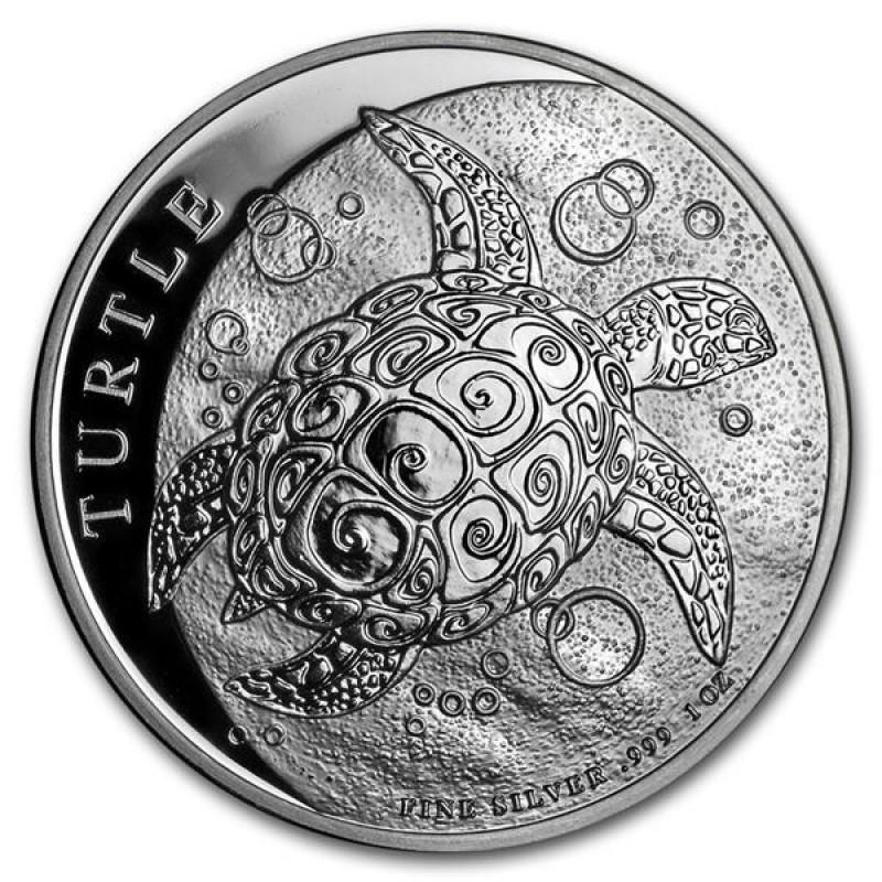 1 Unze Silber Niue Schildkröte Turtle  2019