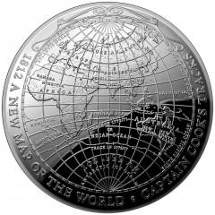 1 Unze Silber Weltkarte 1812 terrestrial-dome-serie 2019