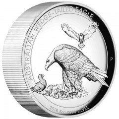 5 Unzen Silber Wedge-Tailed Eagle PP 2018 High Relief
