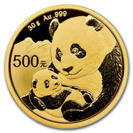 30 Gramm China Panda Goldmünze 2019