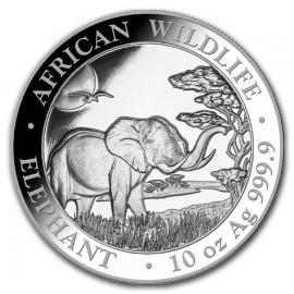 10 Unze oz Silber Somalia Elefant 2019