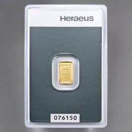 2 g Goldbarren Heraeus