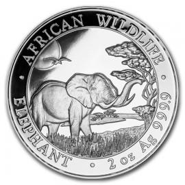 2 Unze oz Silber Somalia Elefant 2019
