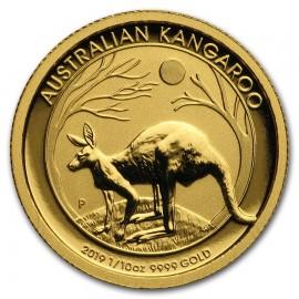 1/10 oz Gold Australian Känguru Nugget 2019