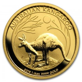 1/4 oz Gold Australian Känguru Nugget 2016