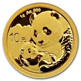 1 g China Panda Goldmünze 2019