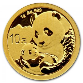 1 Gramm China Panda Goldmünze 2019