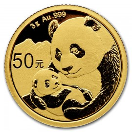 3 Gramm China Panda Goldmünze 2019