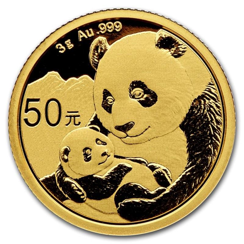 3 Gramm China Panda Goldmünze 2019