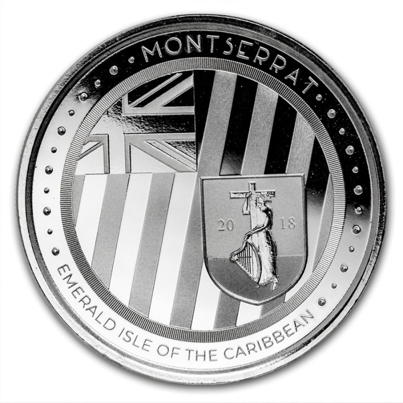 1 Unze Silber 2018 Montserrat Emerald Isle