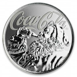 1 Unze Silber  Coca Cola Holiday Coin Blister Fiji 2018