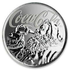 1 Unze Silber  Coca Cola Holiday Coin Blister Fiji 2019