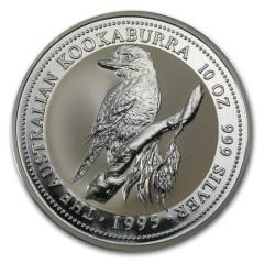 10 Unzen Silber Australien Kookaburra 1995