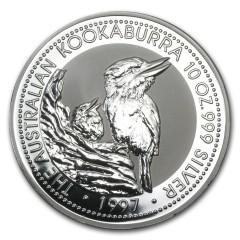 10 Unzen Silber Australien Kookaburra 1997
