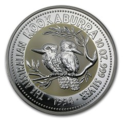10 Unzen Silber Australien Kookaburra 1994